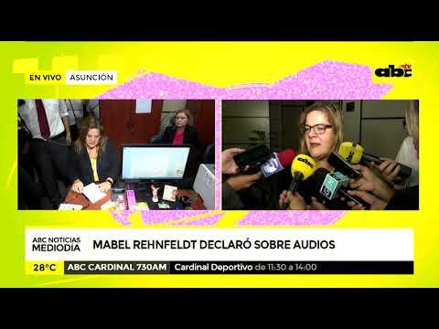 Mabel Rehnfeldt declaró ante la Fiscalía sobre audios filtrados