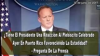 """JUNIO 12, 2017 ►¡CASA BLANCA HABLO ALTO Y CLARO!  """"Ahora Que La Gente De Puerto Rico Ha Hablado, Esto Es Algo Que El Congreso Tiene Que Atender"""". - Secretario de Prensa de la Casa Blanca, Sean Spicer, 12 de junio de 2017 ► LuisAnthony40HD YOUTUBE: ►http://www.youtube.com/user/LuisAnthony40HD?sub_confirmation=1 ► LuisAnthony40 YOUTUBE: ► http://www.youtube.com/user/LuisAnthony40?sub_confirmation=1 ► Mi Twitter: https://twitter.com/LuisAnthony40 ► Mi Facebook: https://www.facebook.com/LuisAnthony40 ► Mi Facebook FANPAGE:https://www.facebook.com/LuisAnthony40HD ► NOTIRealidadPR de Luis Anthony:http://paper.li/LuisAnthony40/1362368312 ► TIENDA - Camisas y Misceláneas► LINK ►http://luisanthony40hd.spreadshirt.com/ --------------------------------------------►FUENTES:► LUIS ANTHONY/@LuisAnthony40 Twitter/LuisAnthony40HD Youtube/WHITE HOUSE PRESS SECRETARY SEAN SPICER/ WIPR/ VOTA ESTADIDAD 11 JUNIO ARCHIVO.► PUBLICADO: JUNIO 12, 2017--------------------------------------------► MUSIC:""""Majestic Hills"""",  """"Voice Over Under"""" by Kevin MacLeod (http://incompetech.com/)  - YouTube Audio Library►► LICENSED UNDER CREATIVE COMMONS: BY ATTRIBUTION 3.0http://creativecommons.org/licenses/by/3.0/► LIBERTAD DE EXPRESIÓN: https://es.wikipedia.org/wiki/Libertad_de_expresi%C3%B3n► LIBERTAD DE PRENSA: https://es.wikipedia.org/wiki/Libertad_de_prensa► FAIR USE: https://en.wikipedia.org/wiki/Fair_use"""