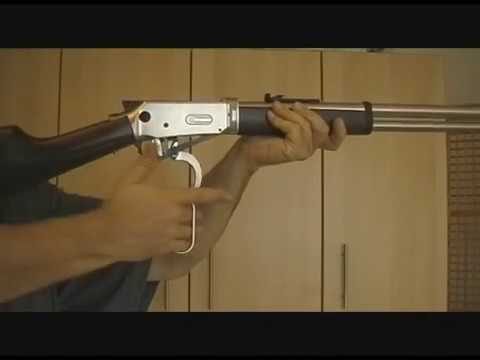 Lever Action .177 CO2 Gewehr/Walther Winchester-88g Version-Steel Finish.wmv