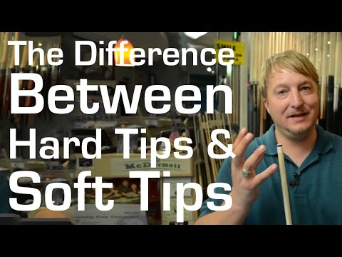 What's the Difference Between Hard Tips and Soft Tips on Pool Cues?