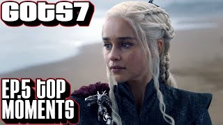 """Game of Thrones season 7 episode 5 recap. Top Moments for """"Eastwatch."""" A look at a transitional episode that dropped some..."""