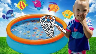 Five Little Fish Song For Babies, Toddlers, Children  Count to 5