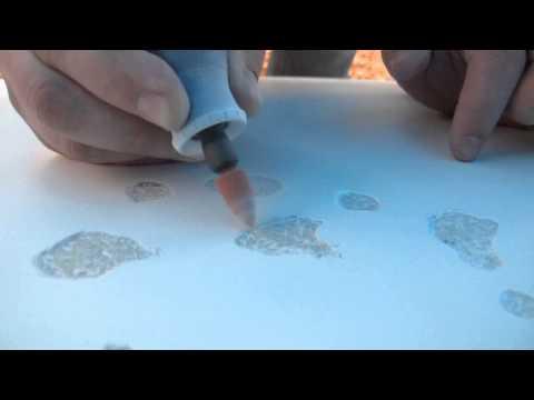 Szlifowanie usuniętych pęcherzy osmozy