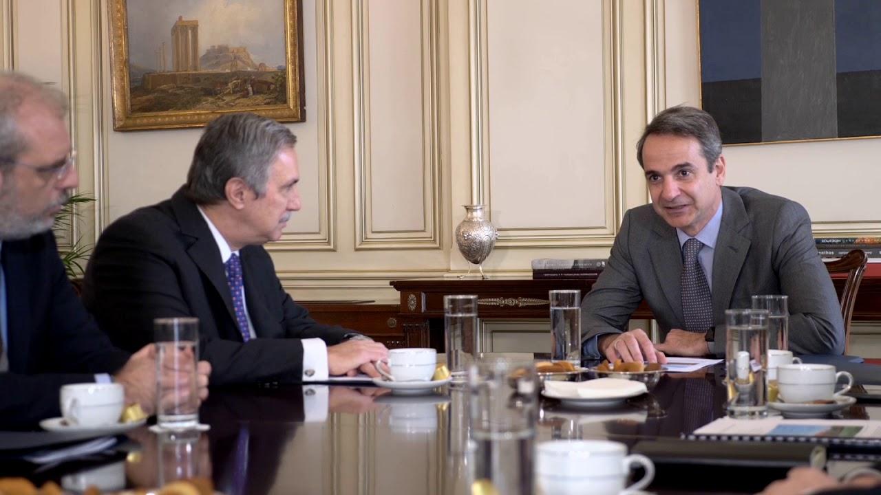 Συνάντηση Πρωθυπουργού Κ. Μητσοτάκη με τον Πρόεδρο του Διοικητικού Συμβουλίου του Ιδρύματος Ωνάση