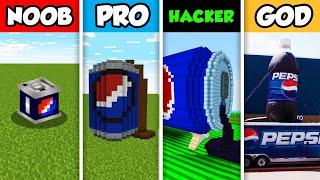 NOOB vs PRO vs HACKER vs GOD : FAMILY PEPSI DRINK HOUSE BUILD CHALLENGE in Minecraft! (Animation)