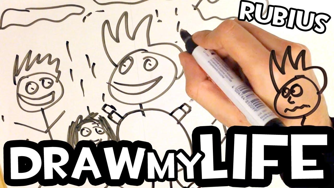 DRAW MY LIFE | by elrubius #rubius #rubiusomg
