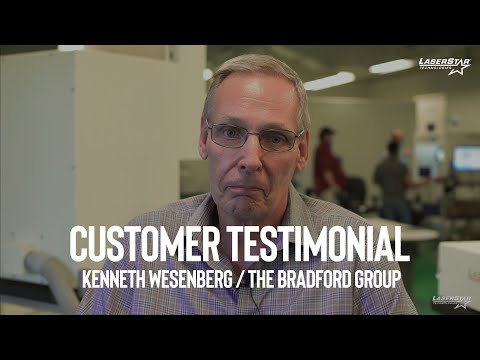 "<h3>Customer Testimonial - Kenneth Wesenberg / The Bradford Group</h3><span style=""font-size: 15px; white-space: pre-wrap; font-family: Roboto, Noto, sans-serif;"">In this video,  Kenneth Wesenberg of The Bradford Group tells us how his LaserStar Technologies onsite training experience went!</span>"