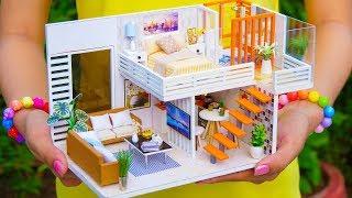 4 DIY Miniature Dollhouse Rooms