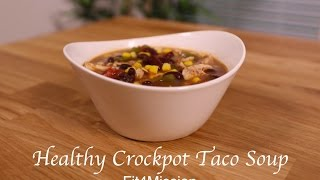 Looking for an easy dinner recipe? Try this tasty Healthy Crockpot Taco Soup! Stay tuned for new videos weekly! Don't forget to...