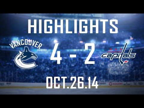 Canucks - Luca Sbisa gets his 1st as a Canuck, which turns out to be the game-winning-goal, as Vancouver scores 3 times in under 2 minutes to begin the 3 game homestand with a victory over Washington....