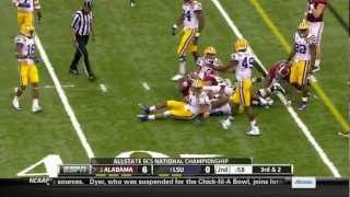 Michael Brockers vs Alabama BCS Championship