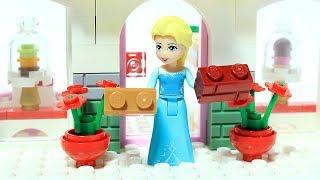 Download Lagu Elsa Frozen Brick Building Cake Bakery Lego Superhero Animation Mp3