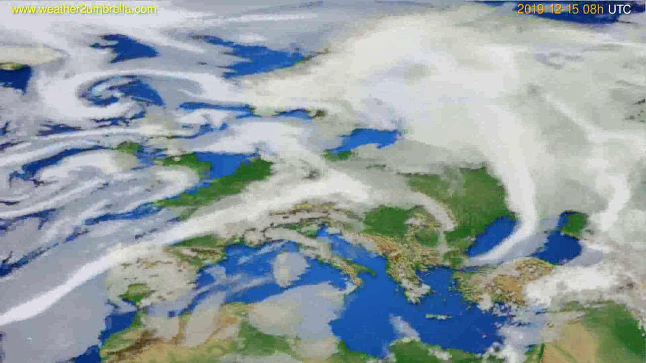Cloud forecast Europe // modelrun: 12h UTC 2019-12-14