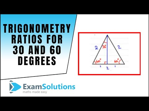 Trigonometrie - Trig. Ratios für 30 und 60 Grad: ExamSolutions
