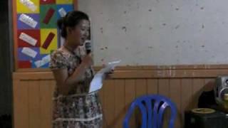 05.03.10 職場で行われたFarewell&Birthday Party トンガ語でスピーチをしました.