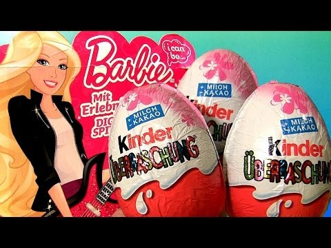 Play Doh Barbie Kinder Surprise Eggs Fashionistas Barbie Ballerina Limited Edition Chocolate Huevos