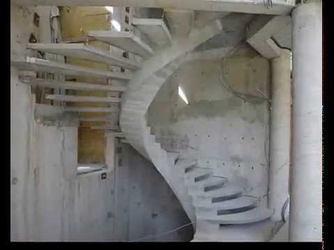Внутренний косоур. Эксклюзивная бетонная лестница