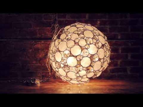 Video for Palla Antique Silver Six-Light Pendant with Natural White Capiz Shell and Hand Cut Crystal