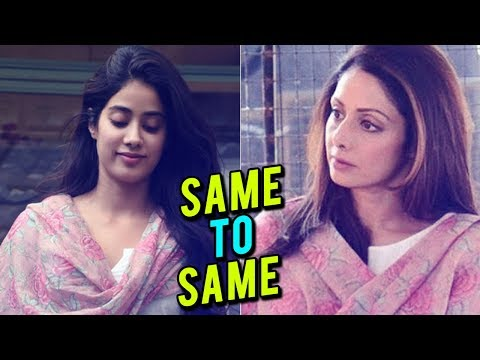 Janhvi Kapoor Remembers Mother Sridevi By Draping