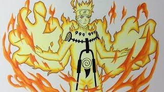 Drawing Naruto Uzumaki - Bijuu Mode