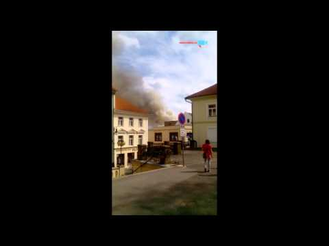první video a to požár v České Lipé v 15:05h