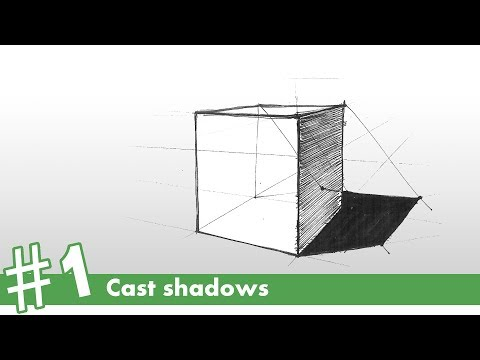 How to draw cast shadows #1 | how to draw
