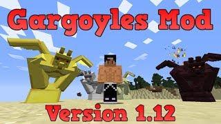 GARGOYLES MOD (1.12)! GARGOLAS PROTECTORAS OP! Minecraft review en español 2017