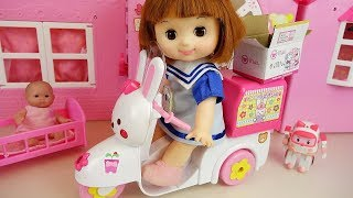 Video Baby doli and rabbit scooter baby doll delivery car surprise toys play MP3, 3GP, MP4, WEBM, AVI, FLV Agustus 2017