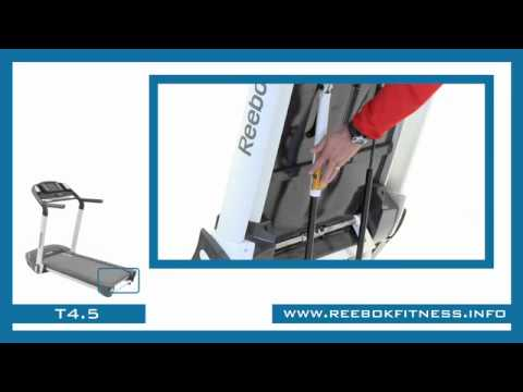 Demonstration of the Reebok T4.5 IWM Treadmill Folding and Transport Mechanism