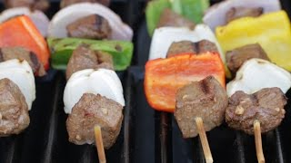 Beef Kebab with Garlic Sauce by Tasty