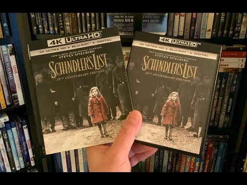 Schindler's List 4K BLU RAY REVIEW + Unboxing