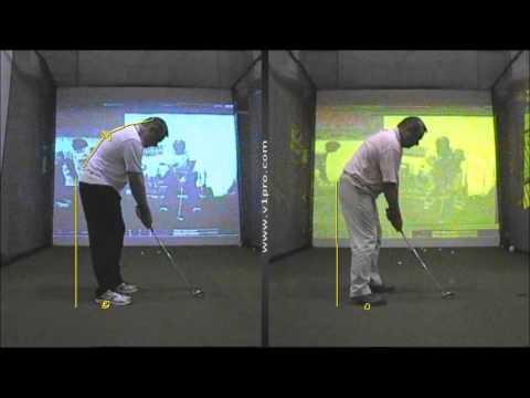 Glyn Meredith Golf Academy Dubai analyses Golfers Posture using V1 Golf