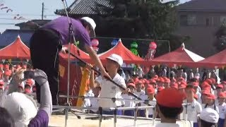 羽黒小運動会(その8)閉会式紅白成績発表