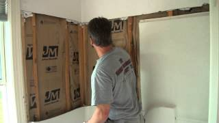 Bathroom Remodel (removing a fiberglass shower.)