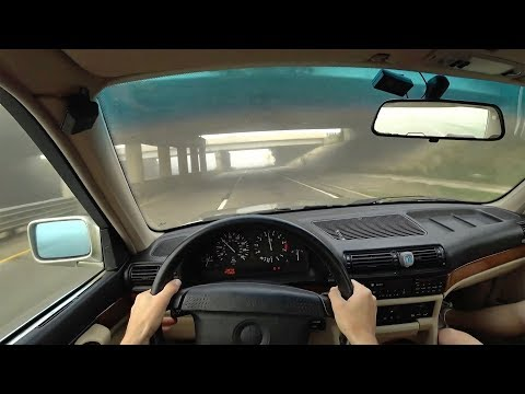 1989 E32 BMW 735iL - POV Driving Impressions (Binaural Audio)