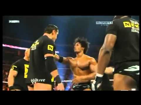 WWE Raw 8/16/10 Darren Young Kicked from Nexus + Beatdown