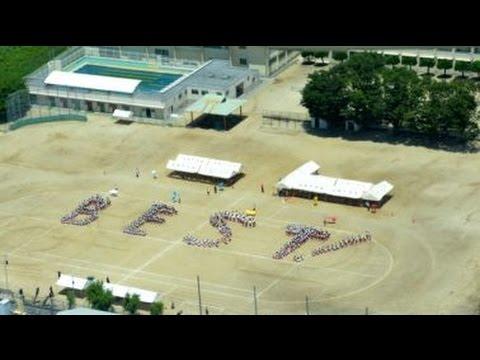 祐誠高校、セスナで北野中学校体育祭予行を!2016.05.18