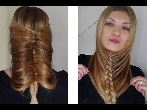 Прически плетение на длинные волосы на каждый день