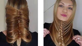 какую прическу самой себе на длинные волосы