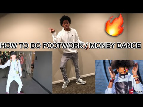 HOW TO DO BASIC FOOTWORK / MONEY DANCE LIKE AYO & TEO, THE BACKPACK KID