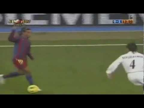 favoloso goal di ronaldinho al real madrid