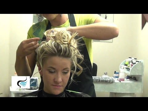 Soft Curl Wedding Updo Girl Hairstyle