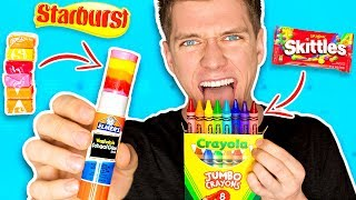 Video DIY Edible School Supplies!!! *FUNNY PRANKS* Back To School! Learn How To Prank using Candy & Food MP3, 3GP, MP4, WEBM, AVI, FLV September 2018