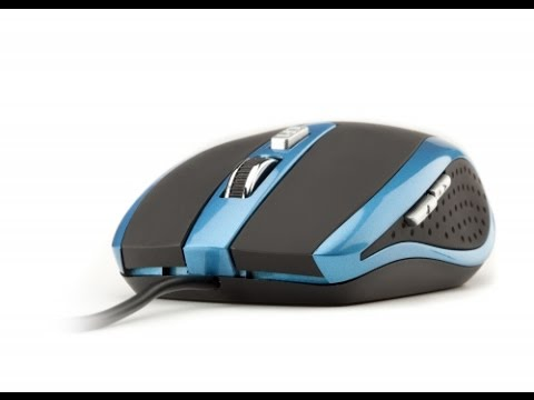 UNBOXING: Blue Computer Mouse.