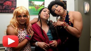 Mika Singh, Rajpal Yadav&Vindu Dara Singh Dress Up As Woman - Funny !