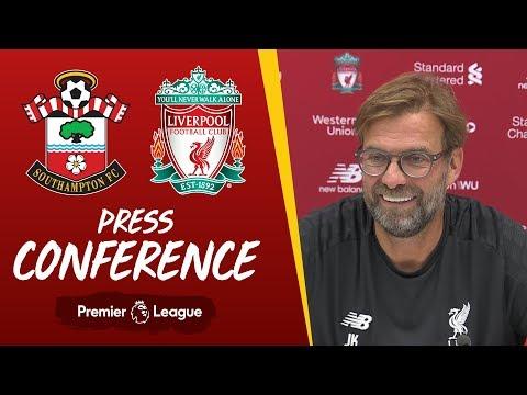 Video: Jürgen Klopp's pre-match press conference | Southampton