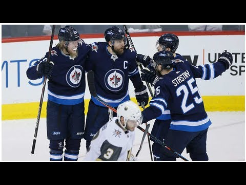 Jets use big first period to beat Golden Knights in Game 1
