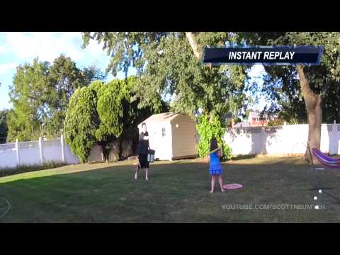 WIFFLE BALL WITH WIGGLE BEAR DIDN'T END WELL... // SCOTT NEUMYER