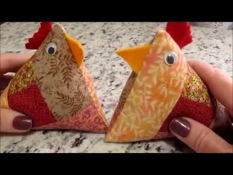 come realizzare una gallina in patchwork