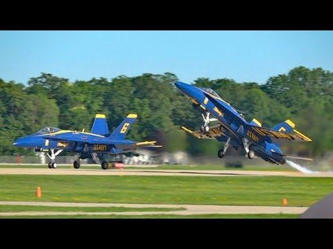 Blue Angels Spectacular at Oshkosh - Sat 29 July 17 (видео)